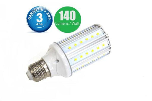 Ampoule LED E27 / E40 au choix - 10 Watts - 1400  lumens - 140 lumens/Watt -  50 x 118 mm - Angle 360° - IP44 -Dimmable