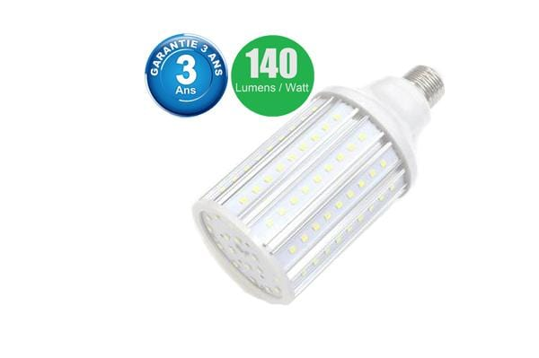 Ampoule LED E27 / E40 au choix - 20 Watts - 2800  lumens - 140 lumens/Watt -  75 x 165 mm - Angle 360° - IP44