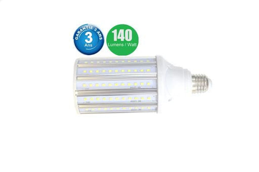 Ampoule LED E27 / E40 au choix - 30 Watts - 4200  lumens - 140 lumens/Watt - 75 x 175 mm - Angle 360° - IP44