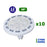 Lot de 10 Ampoules Spot LED AR111/GU10 - 12 Watts - 960 Lumens/Watt - 80 Lumens/Watt - 111 x 70 mm - Angle 36° - IP20