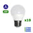 Lot de 10 Ampoules LED E27 G45 - 6 Watts - 480 Lumens - 80 Lumens/Watt - 45 x 75 mm - Angle 200° - IP20
