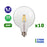 Lot de 10 Ampoules LED E27 - 6,5 Watts - Filament - 810 Lumens - 124 Lumens/Watt - 165 x 125 mm -