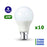 Lot de 10 Ampoules LED B22 A60 - 9 Watts - 806 Lumens - 90 Lumens/Watt - 60 x 108 mm - Angle 270° - IP20