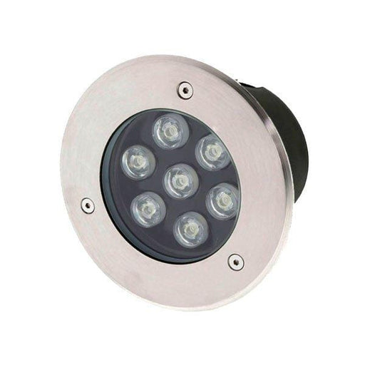 Spot LED extérieur - 7 Watts - 540 Lumens - 80 Lumens/Watt - Dimension ф150 x 93 mm - Découpe 130 mm - Angle 18° - IP65