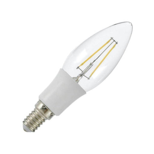 Ampoule LED E14 - 4 Watts - Filament - Bougie - 300  Lumens - 75 Lumens/Watt - 35 x 120 mm- Angle 300° - IP20
