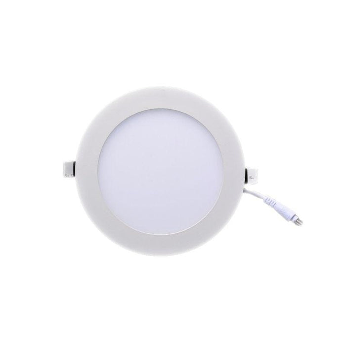 Plafonnier LED rond - 15 Watts - 1200 Lumens - 80 Lumens/Watt - Dimensions 173 x 13 mm - Découpe 160 mm - Angle 120° - IP20 - Option Dimmable