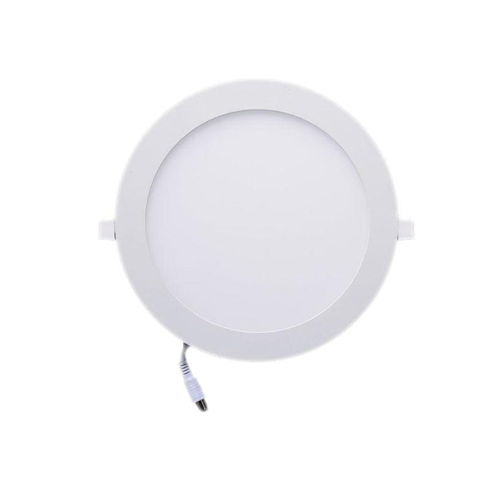 Dalle ultra-plate ronde - 18 Watts - 224 x 13 mm - Découpe 205mm - Angle 120° - IP20 - Transformateur inclus - Option Dimmable