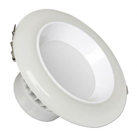 Spot intérieur LED rond - CCT - 12 Watts - 720 Lumens - 60 Lumens/Watt - Dimensions 120 × 87 mm - Découpe 100 mm - Angle 120° - IP50 - Dimmable