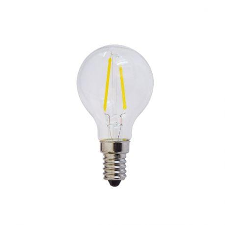 Ampoule LED E14 G45 - 2 Watts - Filament - 200 Lumens - 100 Lumens/Watt - 45 x 78 mm - Angle 300° - IP20