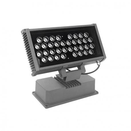 Projecteur LED lèche-mur - 48 Watts - 3840 lumens - 335 x243 x120 mm - 15 degrés - IP67