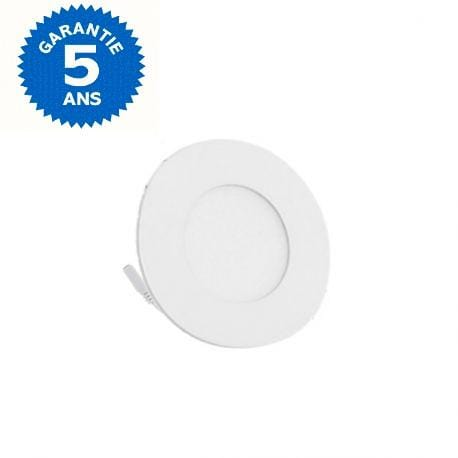Dalle ultra-plate ronde - 6 Watts - 120 × 19 mm - Découpe 110mm - Angle 120° - IP20 - Transformateur inclus - Option Dimmable - Garantie 5 ans