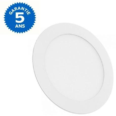 Dalle ultra-plate ronde - 18 Watts - 225 х 19 mm - Découpe 205mm - Angle 120° - IP20 - Transformateur inclus - Option Dimmable - Garantie 5 ans