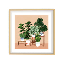 POTTED PLANTS Illustration | Art Print Poster