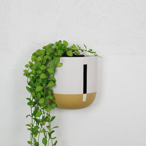 COLOUR BLOCK TALL WALL PLANTER | POT