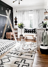 monochrome planter in black and white decor room