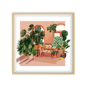 HOME IS WHERE MY PLANTS ARE Illustration | Art Print Poster