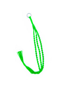 carrie label nylon plant hanger in neon green
