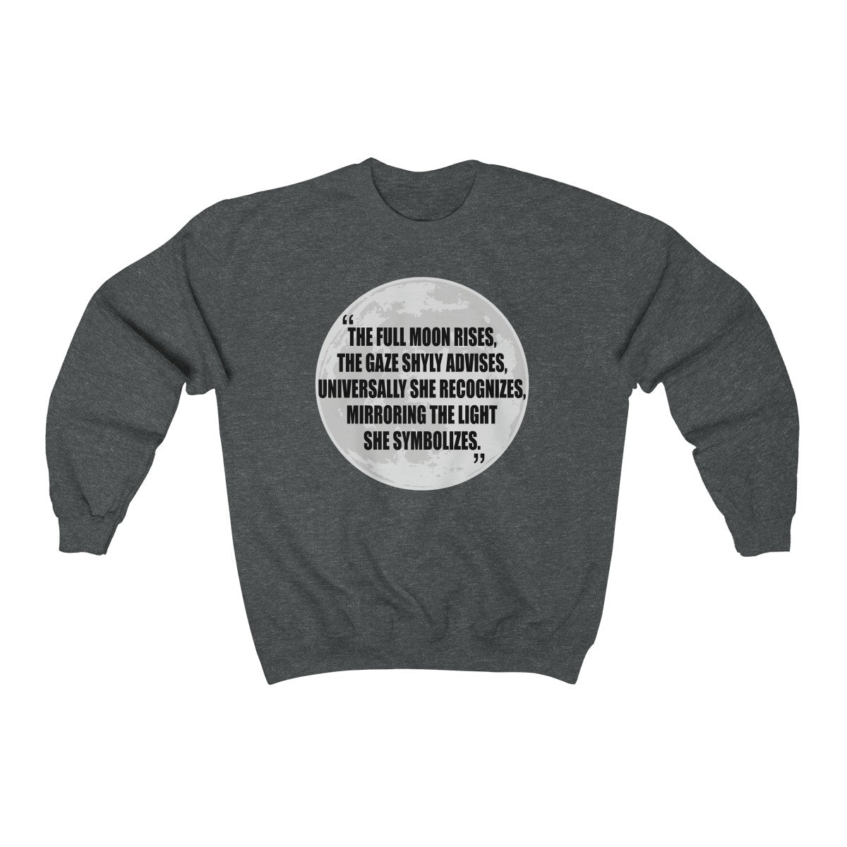 Poetic Midnight Moon - Unisex Sweatshirt - The Poetic Quill