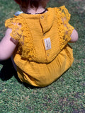 MUSTARDS LACE ROMPER