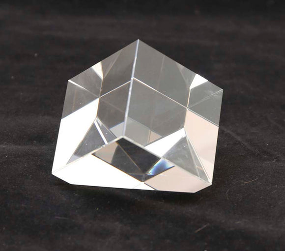 Crystal Slant Cube - Lucky Dog Custom Creations
