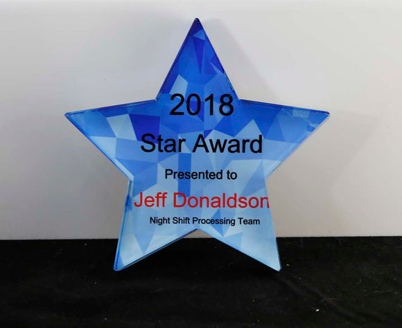 Acrylic Star Paperweight - Lucky Dog Custom Creations