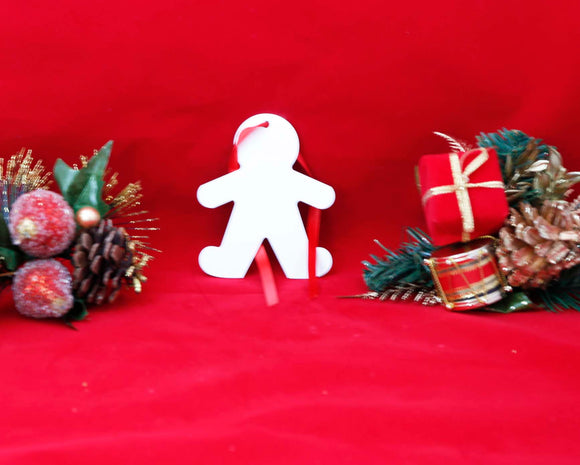 Unisub White Aluminum Gingerbread Man Ornament - Lucky Dog Custom Creations