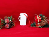 "Gloss White UniSub Aluminum Stein Ornament 3"" x 4"" - Lucky Dog Custom Creations"