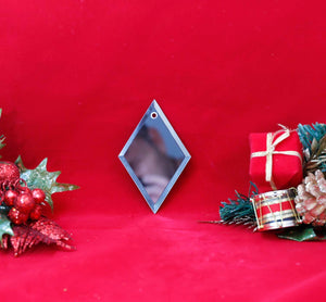 Arrowhead Glass Mirror Ornament - Lucky Dog Custom Creations