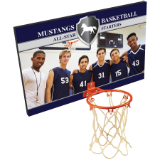 "16""  x 10"" Sublimatable Basketball Plaque  mini Basketball Rim - Lucky Dog Custom Creations"
