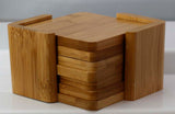 3.75 Square Bamboo 6 Coaster Set - Lucky Dog Custom Creations