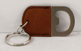 Oval Laserable Leatherette Bottle Opener Keychain - Lucky Dog Custom Creations