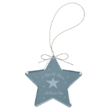 "3"" Crystal Star Ornament - Lucky Dog Custom Creations"