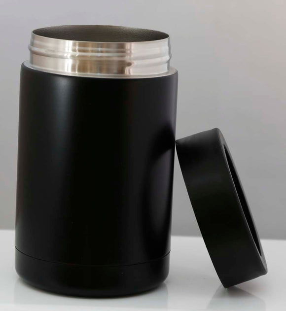 12oz Matte Black Can Flask - Lucky Dog Custom Creations