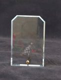 4 x 6 Clear Clipped Corners Rectangle CrystalEdge Glass Award/Desk Piece/Photo Frame - Lucky Dog Custom Creations
