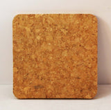 "4"" x 4"" Square Cork Coaster - Lucky Dog Custom Creations"
