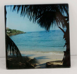 "4"" x 4"" Sublimatable Square Glass Coaster - Lucky Dog Custom Creations"