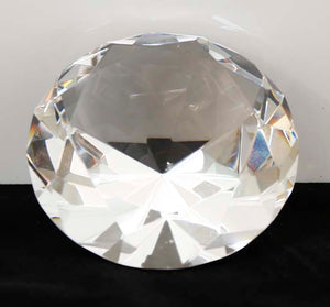 "2 1/2"" Clear Crystal Diamond (4"" Diameter) - Lucky Dog Custom Creations"