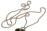 Metal Beaded Chain (for Dog Tag) - Lucky Dog Custom Creations