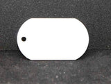 White Aluminum Dog Tag 1-Sided - Lucky Dog Custom Creations
