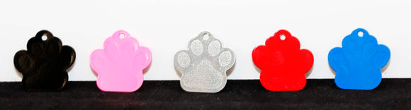 Laserable Paw Print Pet Tags - Lucky Dog Custom Creations