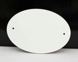 "UNISUB 3 1/2"" x 5"" Gloss FRP Oval Door Plate - Lucky Dog Custom Creations"