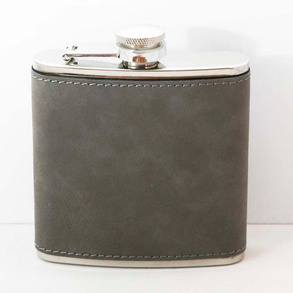 6oz Leatherette Stainless Steel Flask - Lucky Dog Custom Creations