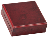 "3 3/4"" x 3 3/4"" Rosewood Finish Medal Box - Lucky Dog Custom Creations"
