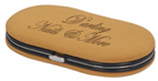 4-Piece Tan Leather Manicure Gift Set - Lucky Dog Custom Creations