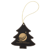 Laserable Leatherette Tree Ornament with Gold String - Lucky Dog Custom Creations