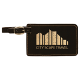 Laserable Leatherette Luggage Tag - Lucky Dog Custom Creations