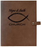 Leatherette Book/Bible Cover with Snap Closure - Lucky Dog Custom Creations