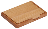"4 1/4"" x 2 3/4"" Maple/Rosewood Finish Business Card Holder - Lucky Dog Custom Creations"