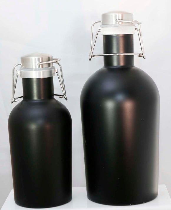 Personalized Stainless Steel Beer Growlers - Lucky Dog Custom Creations