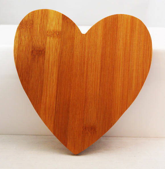 Heart Shaped Cutting Board, Laserable, 8 1/2